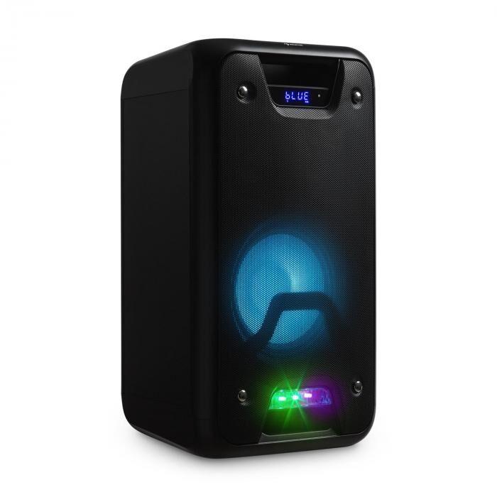 Auna UltraSonic Pulse V8-60 Altavoz portátil Bluetooth MP3 Micrófono Radio LED & USB (KS2-PSS 60)