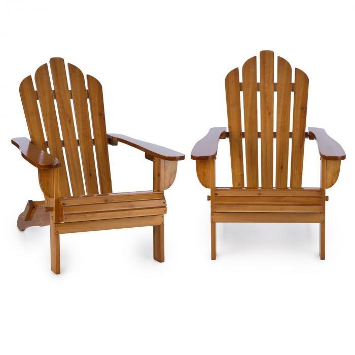 Blumfeldt Vermont silla de jardín 2 piezas estilo Adirondack madera de pino marrón