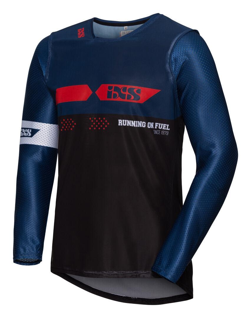 IXS MX Jersey 19 2.0 Slim Camiseta de Motocross Negro Rojo Azul 2XL