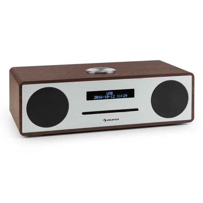 Auna Stanford Radio-CD-DAB DAB+ Bluetooth USB MP3 AUX radio FM nogal (VB5-Stanford WN)