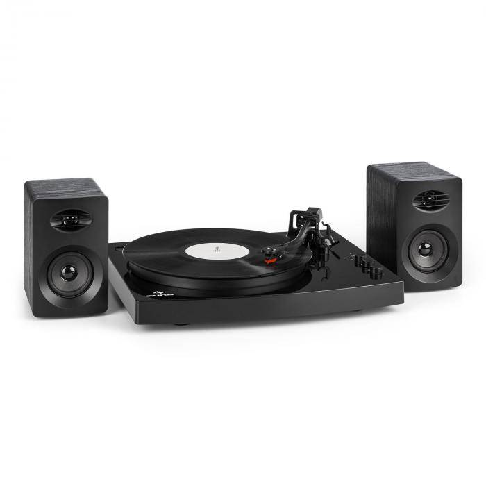 "Auna TT-Play Tocadiscos 2 altavoces estéreo (3""/10W) BT 33 1/3 & 45 U/minnegro (TTS9-TT-Play BK)"