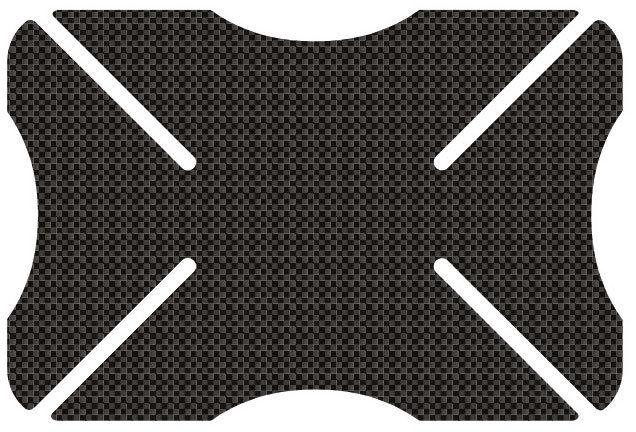 Oxford Carbon Weave Parachoques del casco Carbono