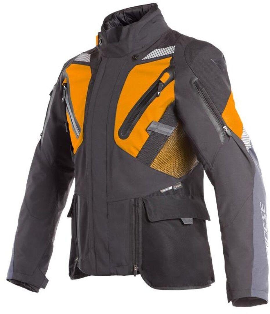 Dainese Gran Turismo GoreTex Chaqueta de moto textil Negro Naranja 52