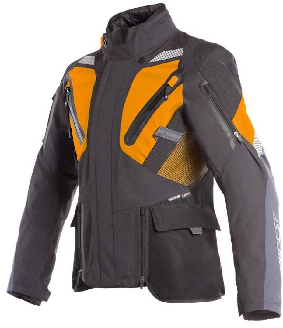 Dainese Gran Turismo GoreTex Chaqueta de moto textil Negro Naranja 54