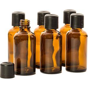 Primavera Home Accesorios y aromatizadores Set de botellas vacías con etiquetas para escribir 6 x 50 ml