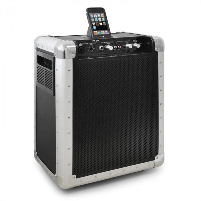 Skytec PA-201 170 activo Sistema PA con base dock universal iPod