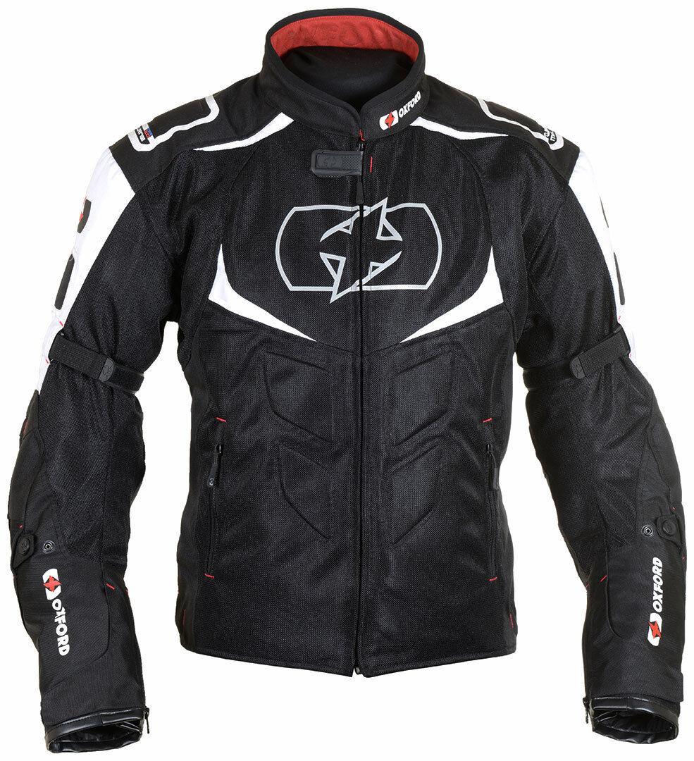 Oxford Melbourne 2.0 Air Chaqueta textil para motocicletas Negro Blanco 4XL