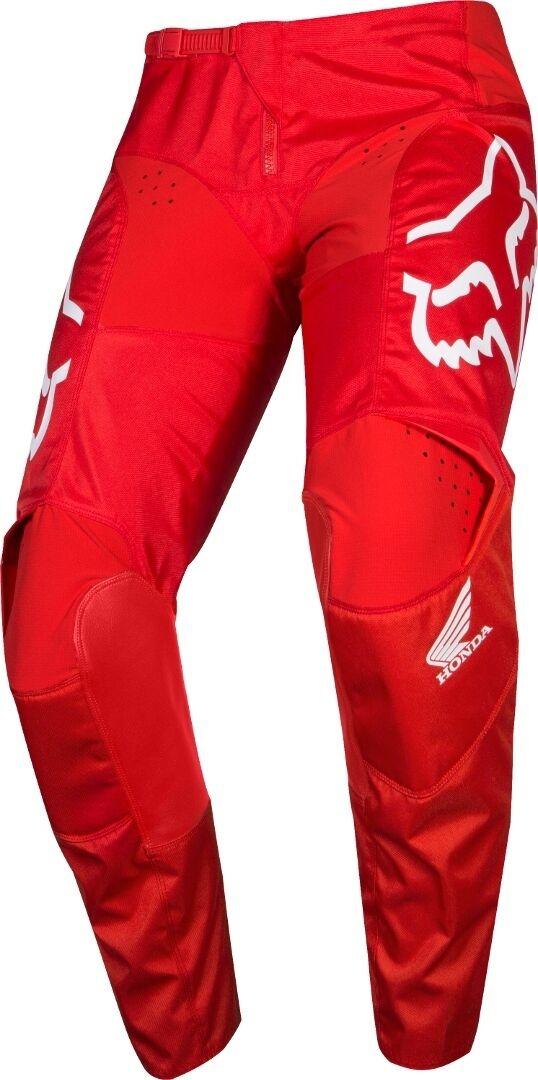 Fox 180 Honda Pantalones de Motocross Rojo 36