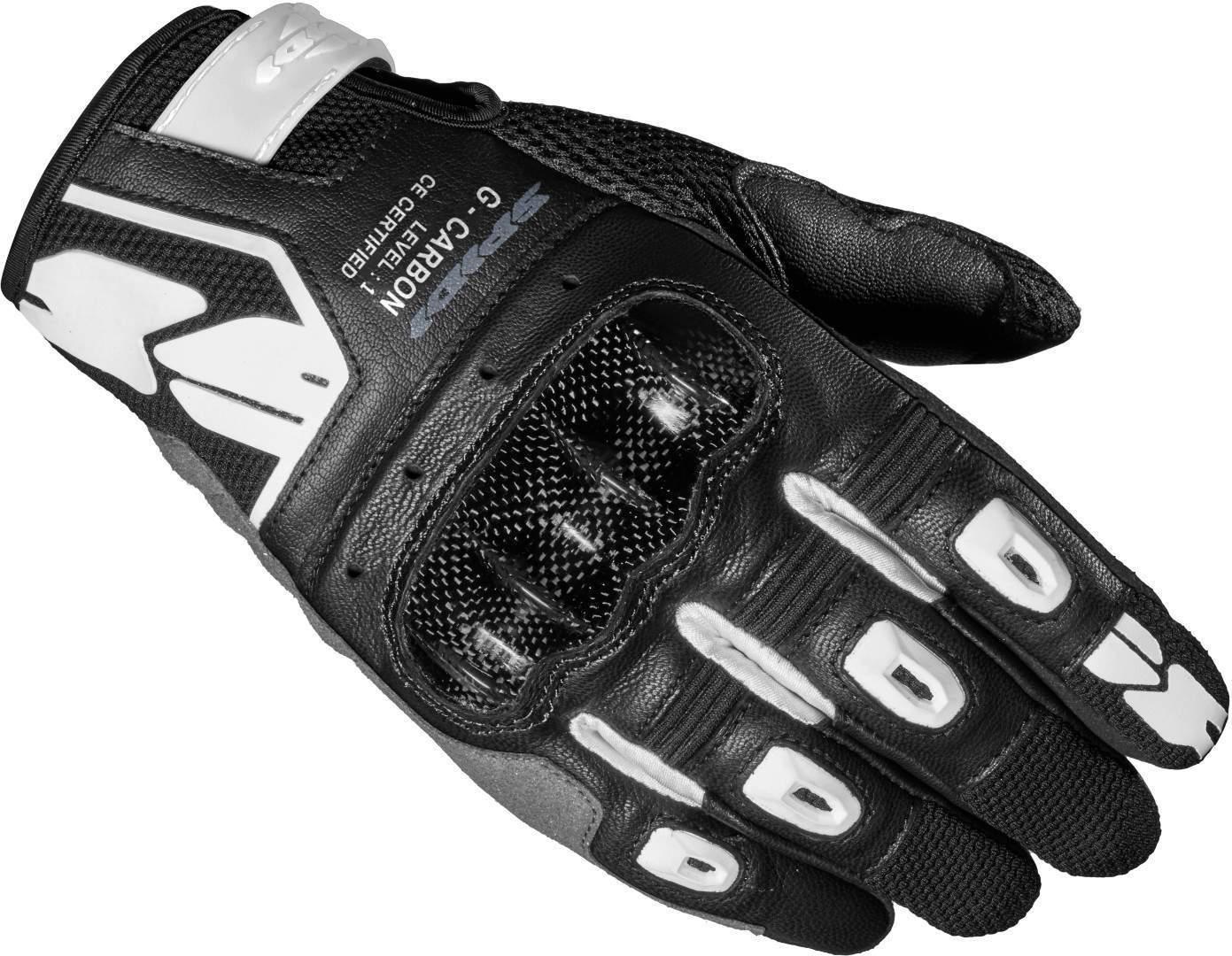 Spidi G-Carbon Botas de moto para mujer Negro Blanco XL