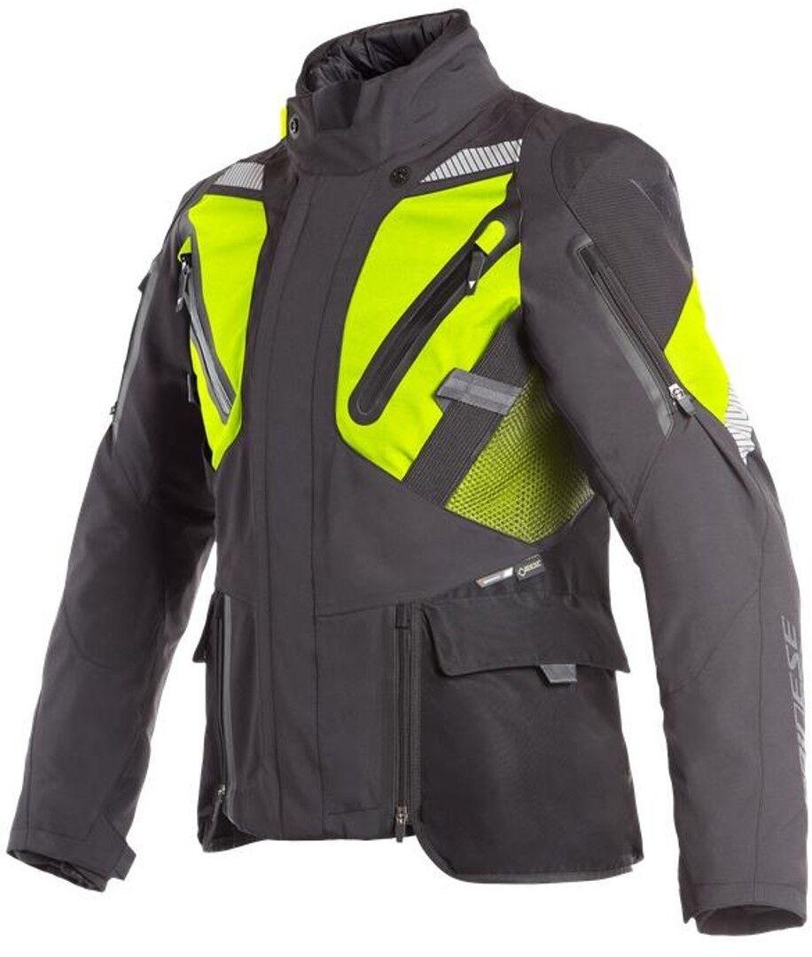 Dainese Gran Turismo GoreTex Chaqueta de moto textil Negro Amarillo 52