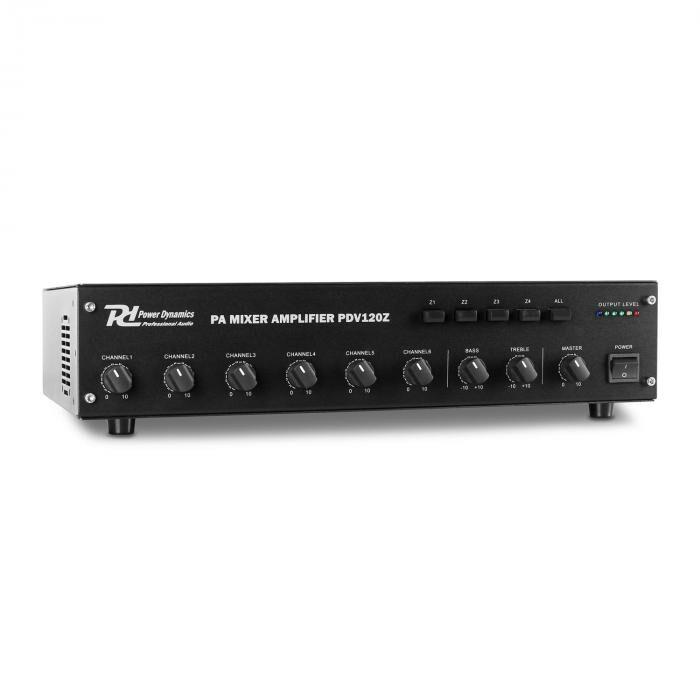 Power Dynamics PDV120Z Amplificador PA 6x canal 4 zonas 120W (Sky-952.063)