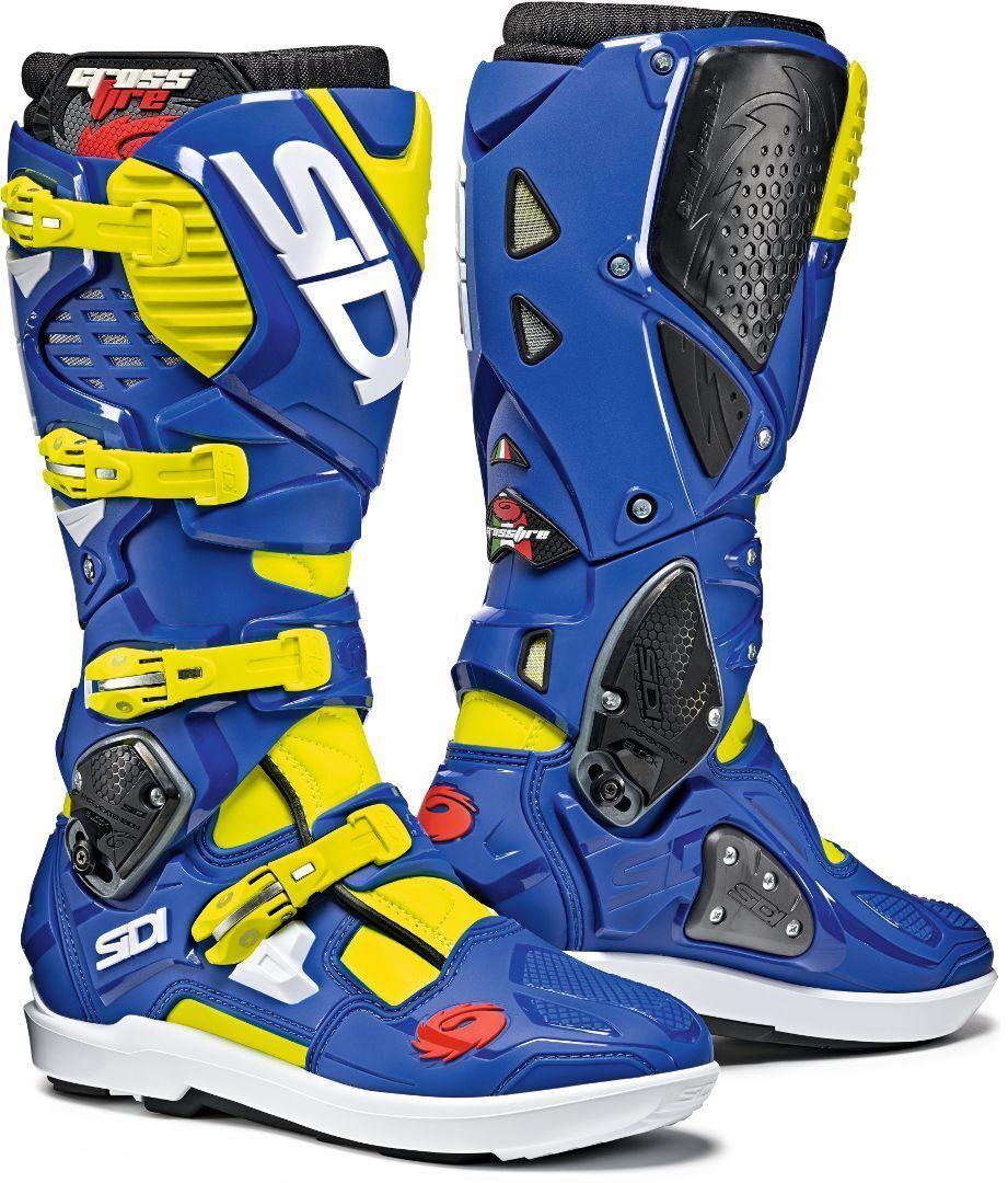 Sidi Crossfire 3 SRS Motocross Boots Botas de Motocross Negro Amarillo 42