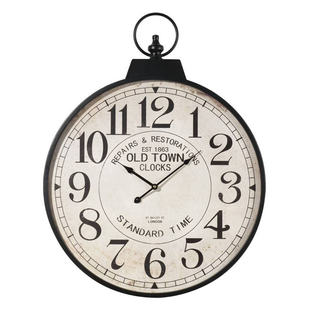 Maisons du Monde Reloj de bolsillo de metal Diám. 60cm VINTAGE