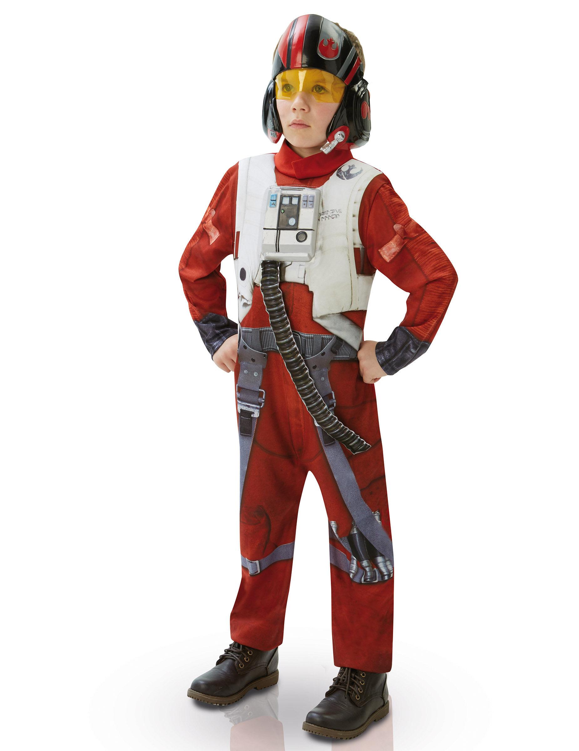 Vegaoo.es Disfraz niño Deluxe Poe X-Wing Fighter-Star Wars VII - 7 a 8 años (117 a 128 cm)