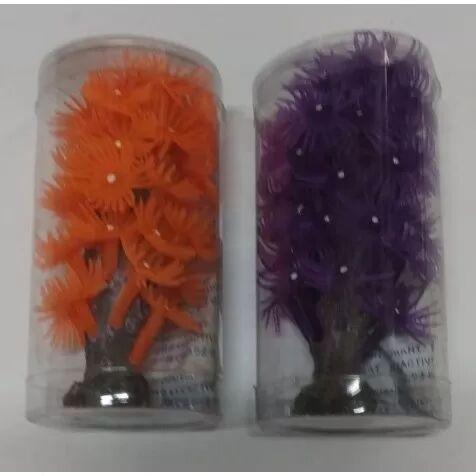 COMPLEMENTOS Decoración Acuario De Coral Árbol - Naranja