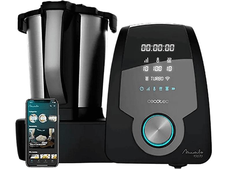 CECOTEC Robot de cocina - Cecotec Mambo 10070, 30 funciones, 10 velocidades, Compatible con App, Negro