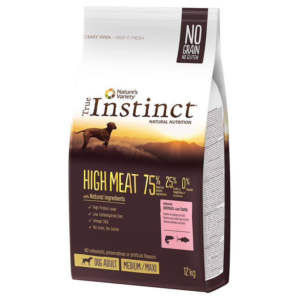 True Instinct pienso para perros + esterilla plegable  ¡gratis! - No Grain Medium-Maxi con salmón (12 kg)
