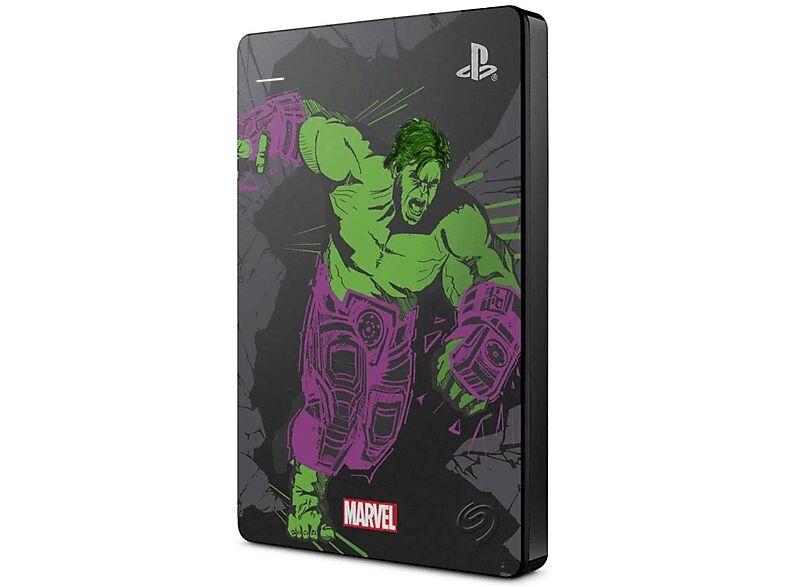 Seagate Disco duro externo 2 TB - Seagate Game Drive Capt. Hulk (Ed. Limitada), Para PS4, Plug-and-Play, Multicolor