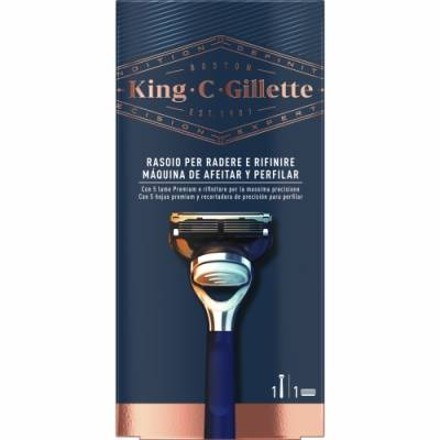 King C. Gillette Gillette King C Máquina de Afeitar y Perfilar, 1 un