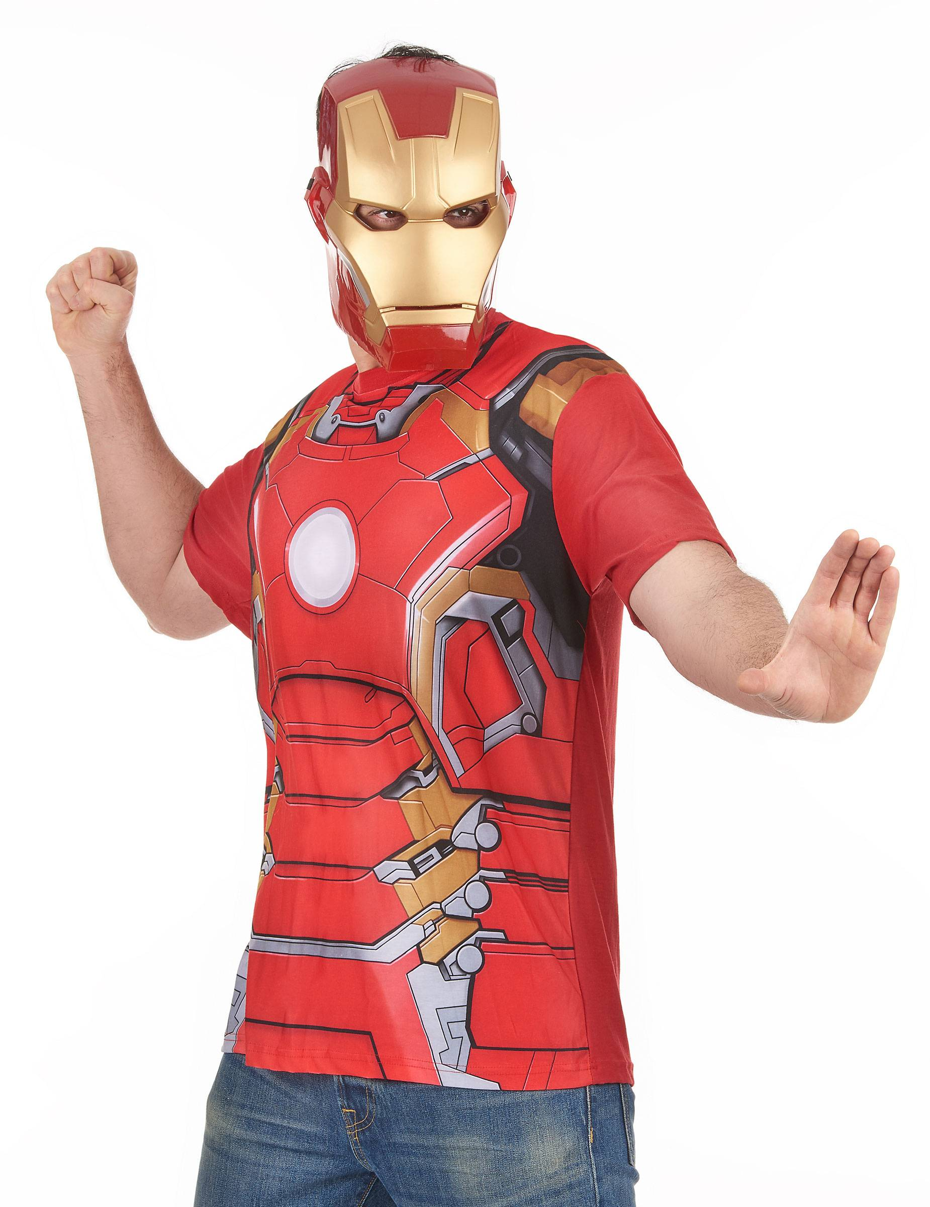 Vegaoo.es Camiseta y máscara Iron Man 2 - XL