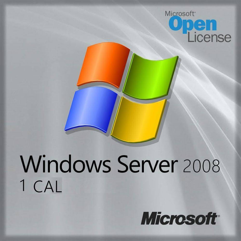 R18-02729 Microsoft Windows Server 2008 1 Device CAL
