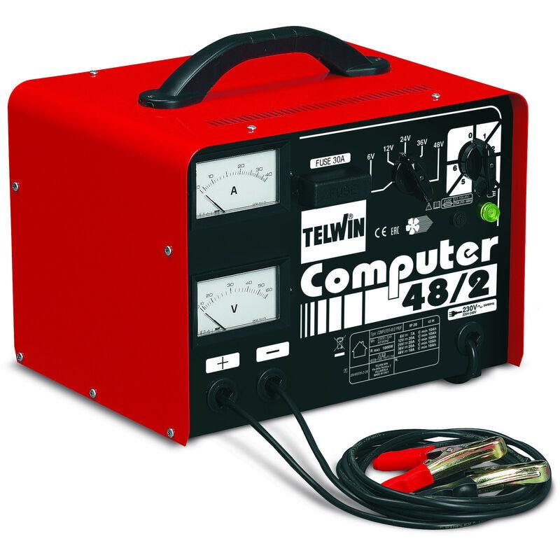 Telwin - Cargador de batería PRO con control electrónico 30A