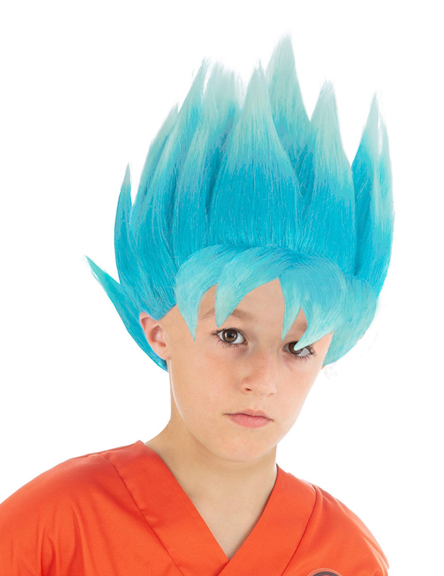 Vegaoo.es Peluca azul Goku Saiyajin Super Dragon Ball Z niño