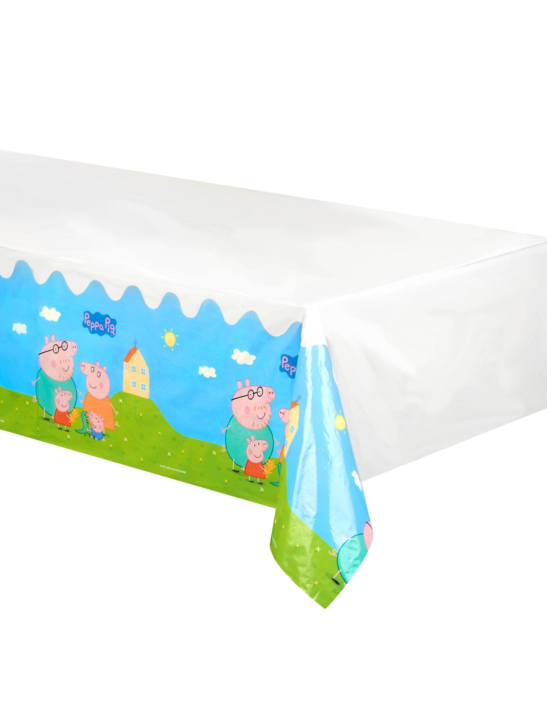 Vegaoo.es Mantel plástico Peppa Pig 130 x 180 mcm