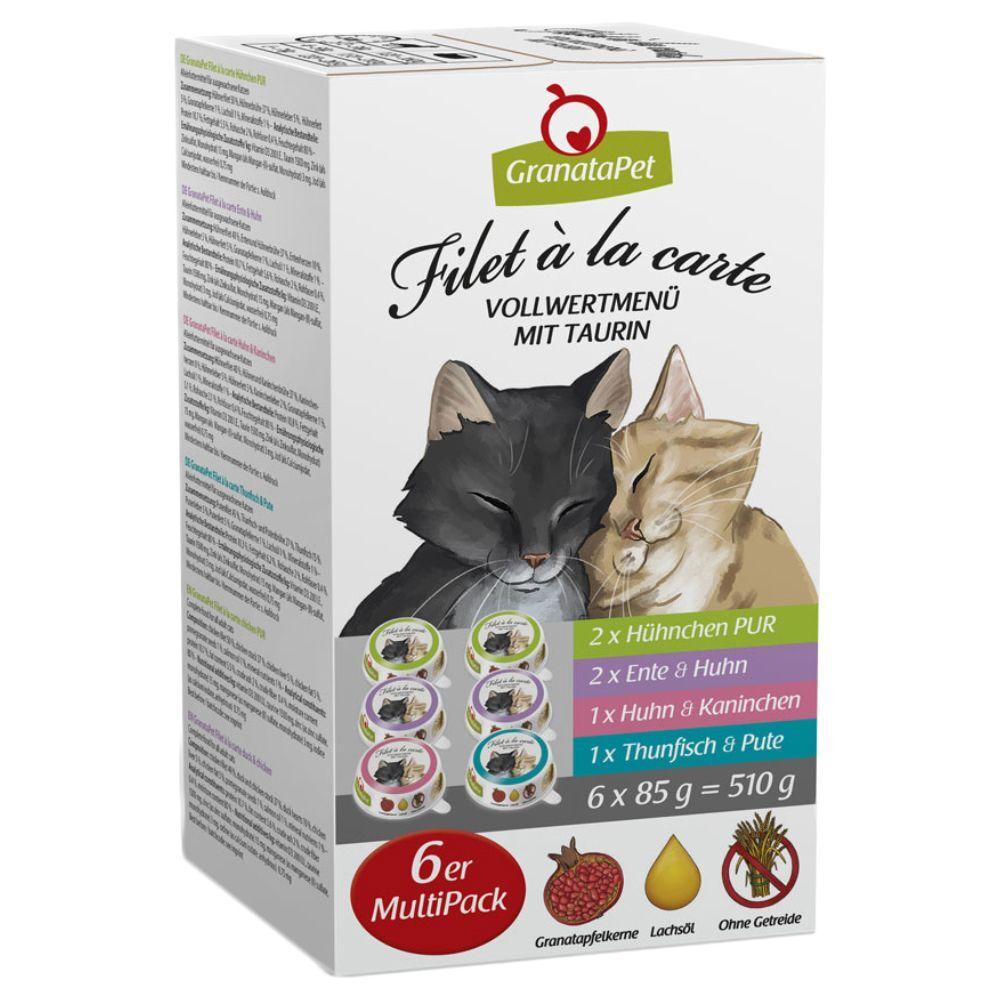 Granatapet Filet à la carte 6 x 85g - Pack de prueba mixto - 4 variedades