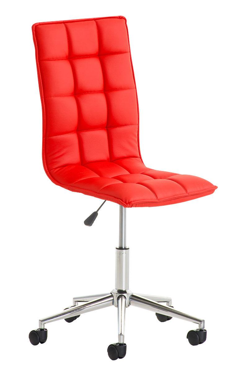 CLP Taburete de Trabajo Peking , rojo  rojo, altura del asiento