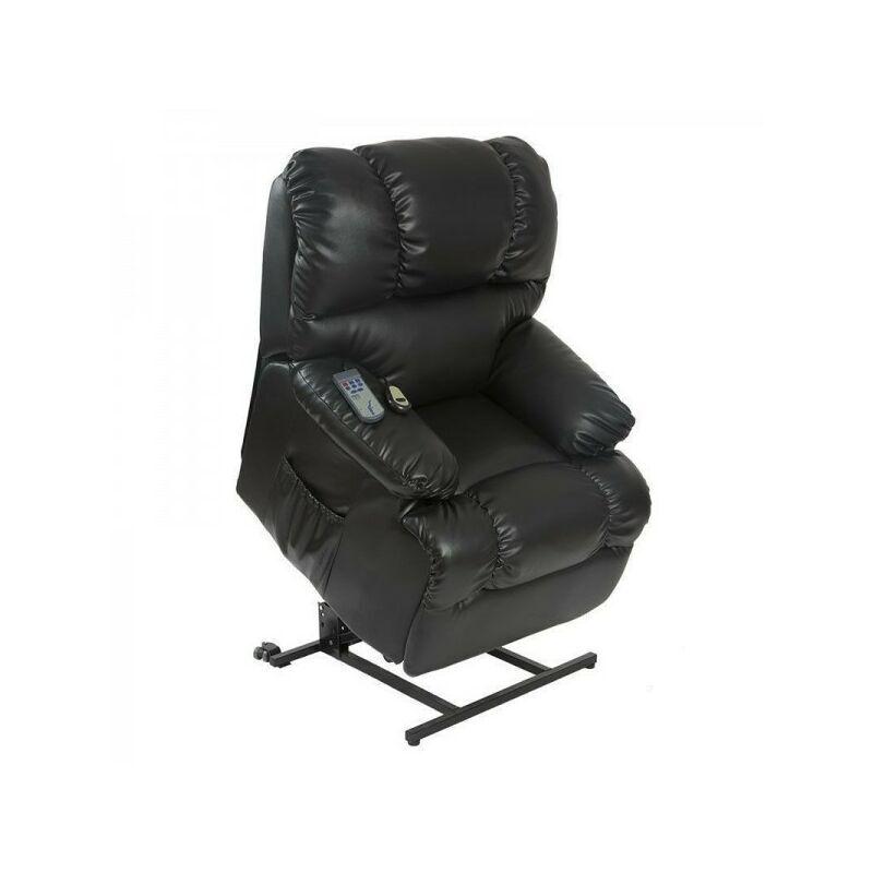 CECOTEC Sillón relax de masaje levantapersonas. Color - Negro - Cecotec