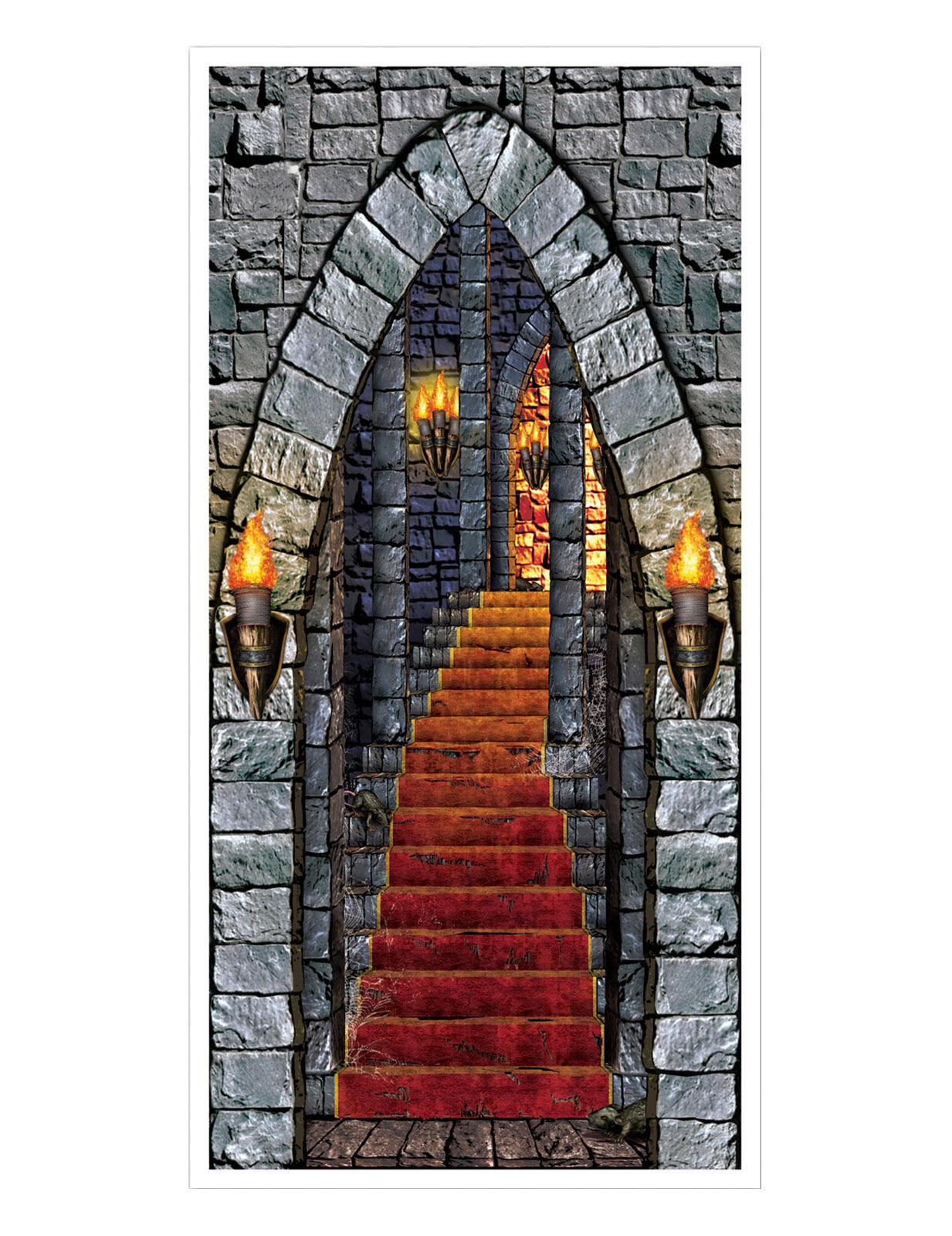 Vegaoo.es Decoración puerta de castillo encantado Halloween