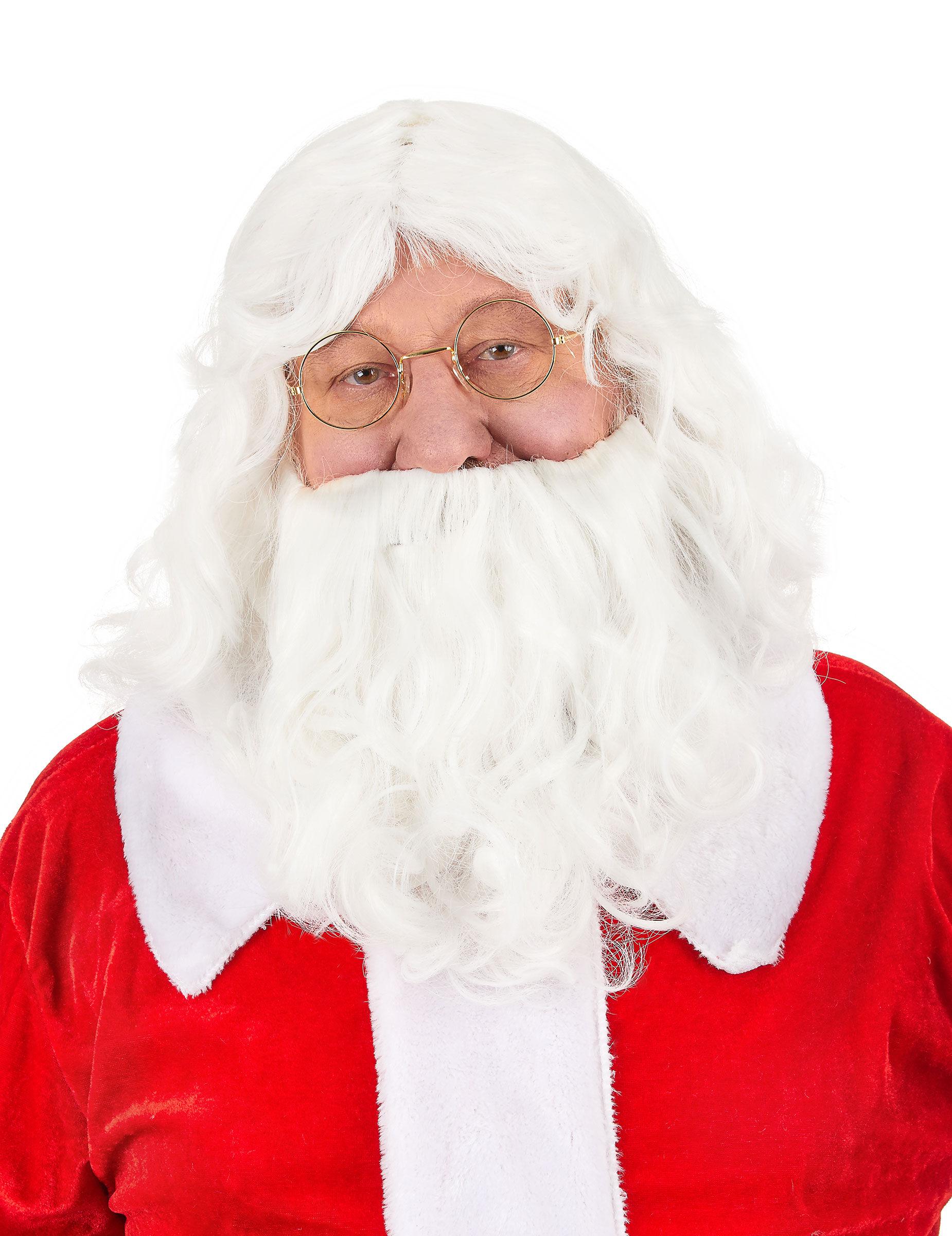 Vegaoo.es Peluca y barba Papá Noel 203 g