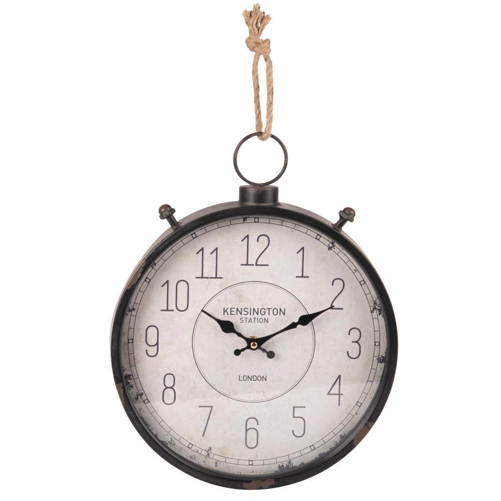 Maisons du Monde Reloj de bolsillo cronómetro gris y blanco
