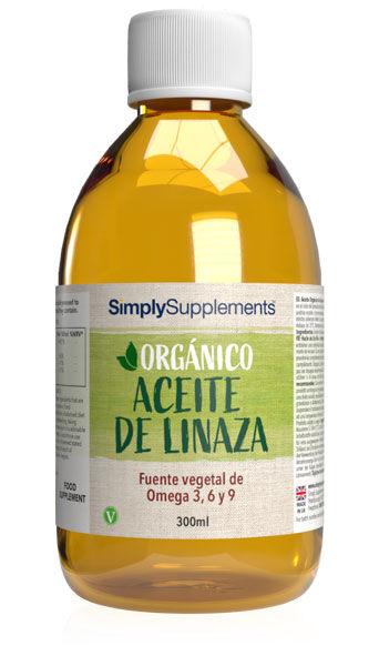 Simply Supplements Orgánico - Aceite de Linaza  - 300 ml
