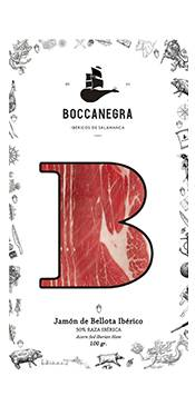Boccanegra Ibéricos Jamon Iberico de Bellota Loncheado 100gr Boccanegra
