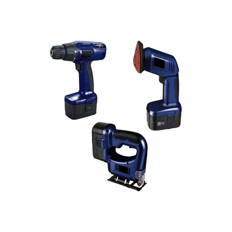 Set de herramientas (sierra+lijadora+taladro)