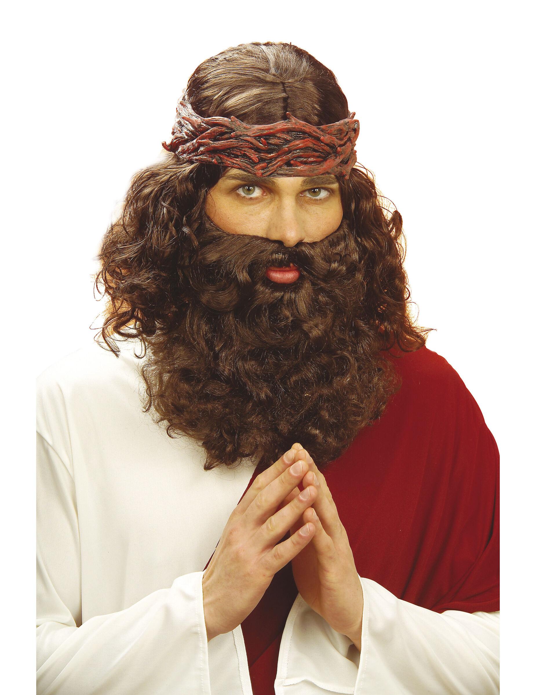 Vegaoo.es Peluca/barba de profeta para hombre