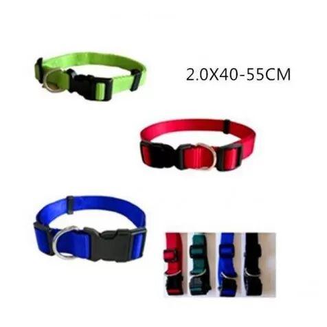 COMPLEMENTOS Collar De Nylon Regulable Basic 44 - 55 Cm - Rojo