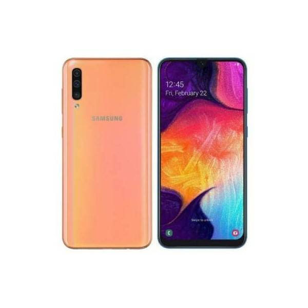 "Samsung Galaxy A50 SM-A505F 4+128GB de 6.4"" Coral DS"