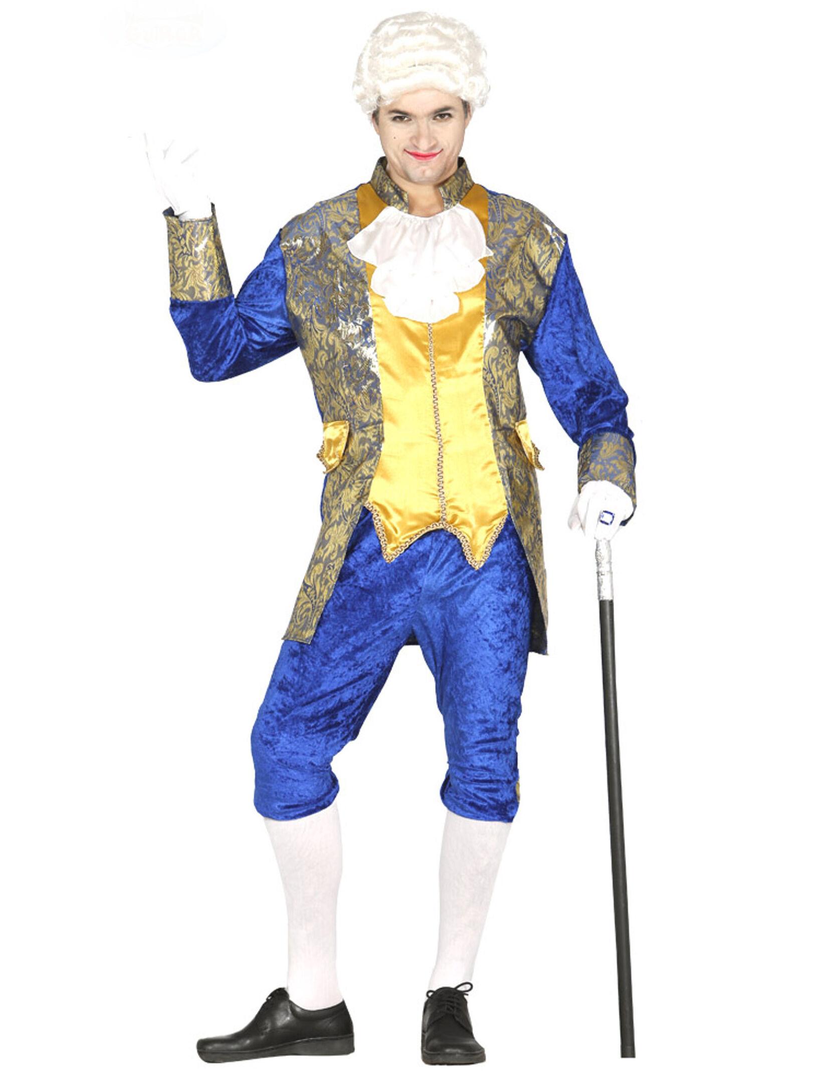 Vegaoo.es Disfraz de marqués azul hombre - M