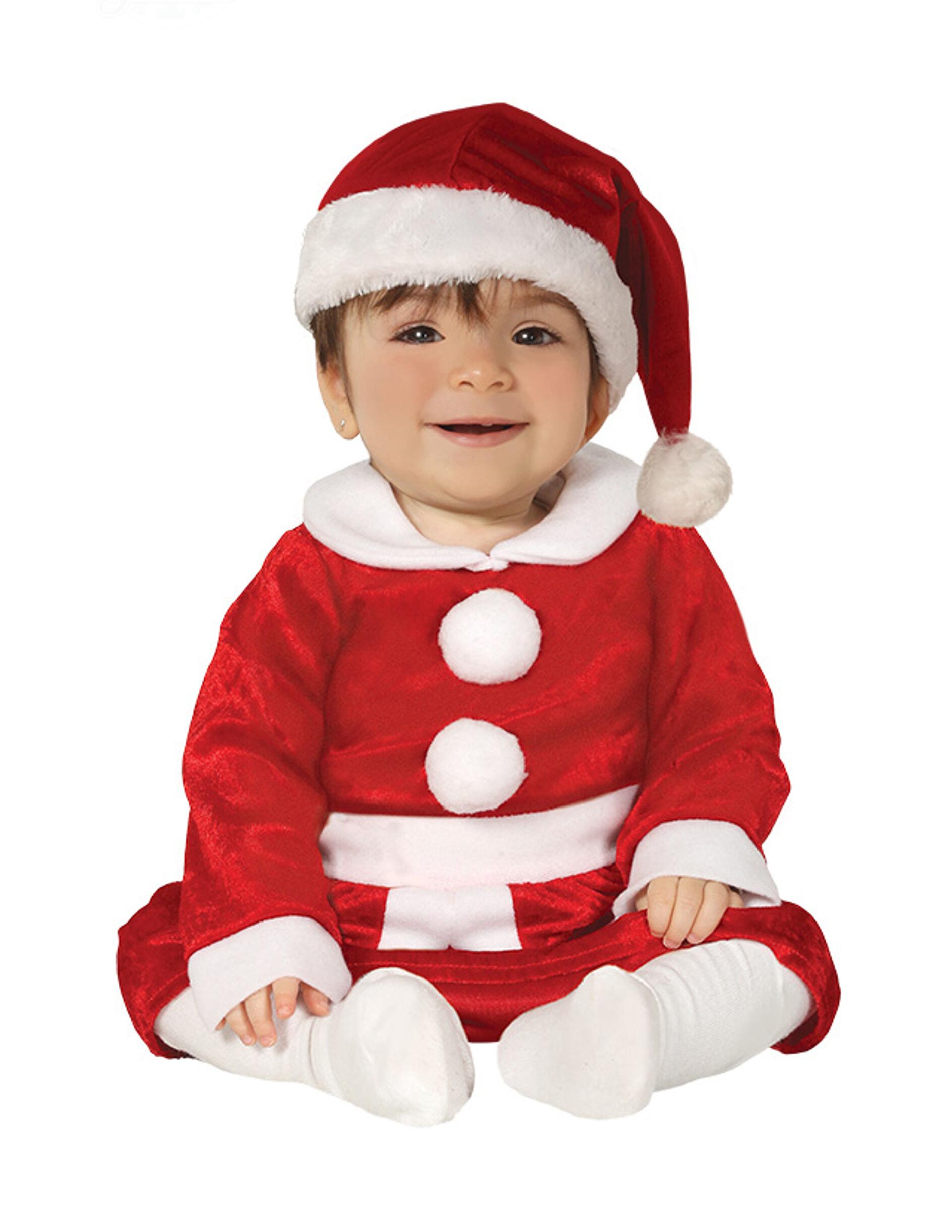 Vegaoo.es Disfraz de Mamá Noel bebé - 6-12 meses (82-83 cm)