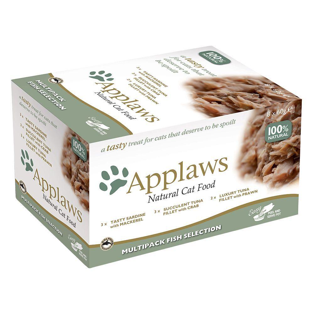 Applaws Tasty para gatos 8 x 60 g - Pack de prueba - Selección de pescado