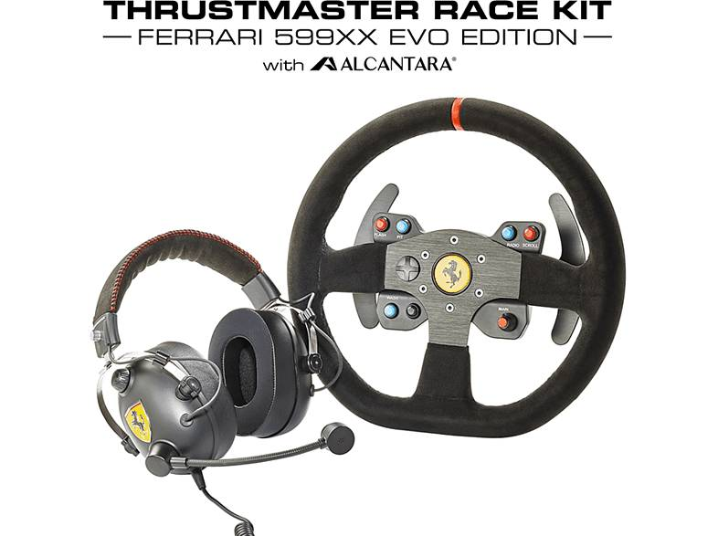 Thrustmaster Pack gaming - Thrustmaster Race Kit Ferrari 599XX (Ed. EVO), Volante, Auriculares, Para PC, PS3, PS4, Xbox One