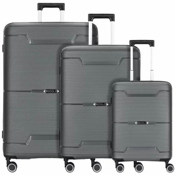 Redolz THE THREE SET 1 Maleta 4 ruedas dobles set 3pcs. grey metallic