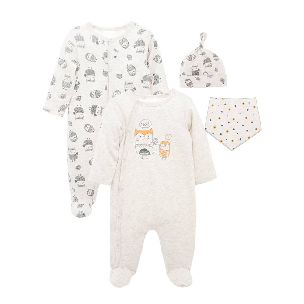 Orgánica + algodón + bebés % 27 + ropa de 2 piezas