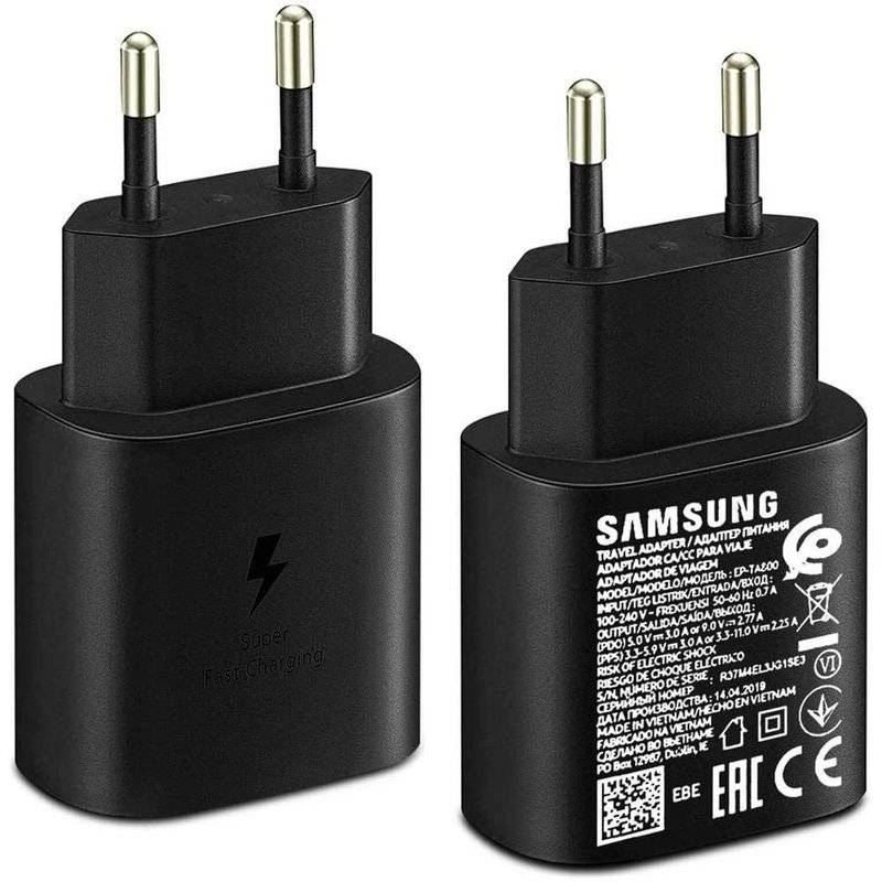 Samsung Cargador Samsung SuperFast USB-C - 25w Negro