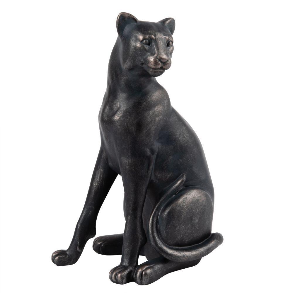 Maisons du Monde Figura de pantera de color bronce Alt.30