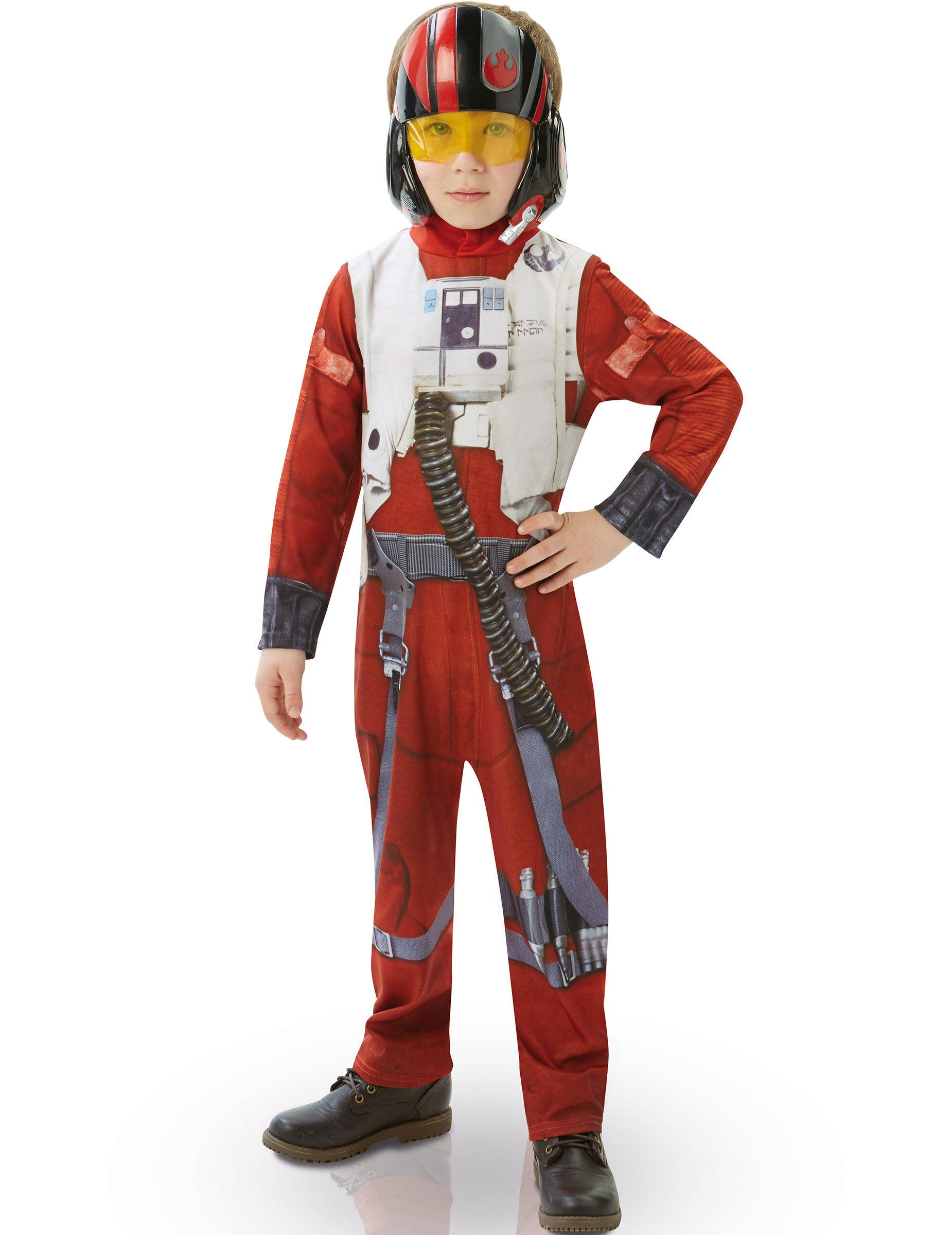 Vegaoo.es Disfraz niño clásico Poe X-Wing fighter Star Wars VII - 7 a 8 años (117 a 128 cm)