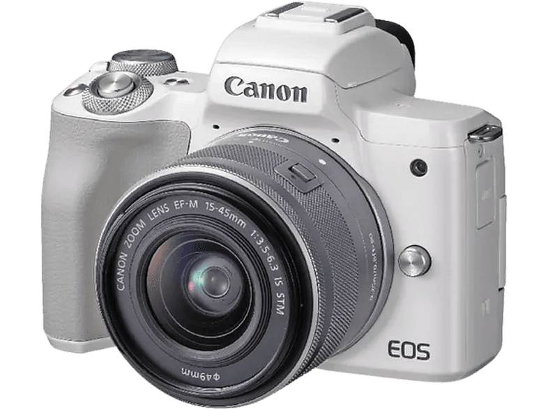 Canon Cámara EVIL - Canon EOS M50, 24.1 MP, Sensor CMOS, 4K, Wi-Fi, Bluetooth + EF-M 15-45 IS STM